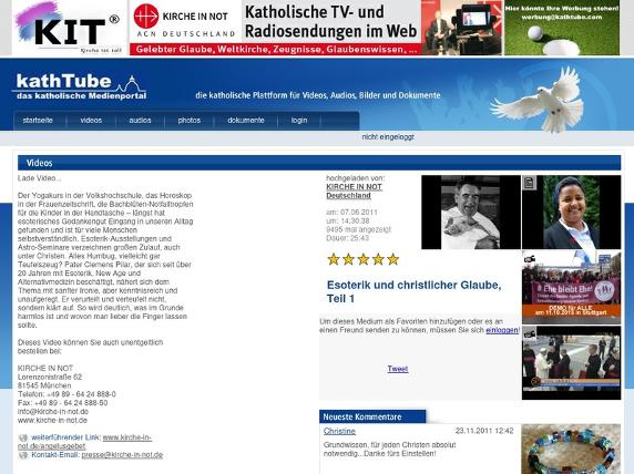 Screenshot von http://www.kathtube.com/player.php?id=21572