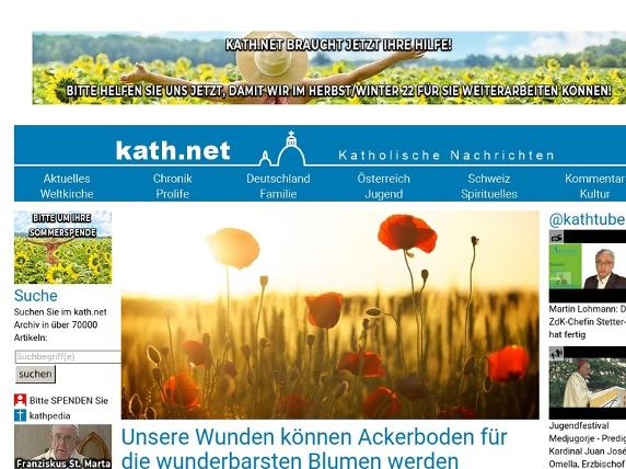 Screenshot von http://kath.net/