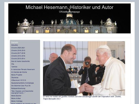 Screenshot von http://michaelhesemann.info/