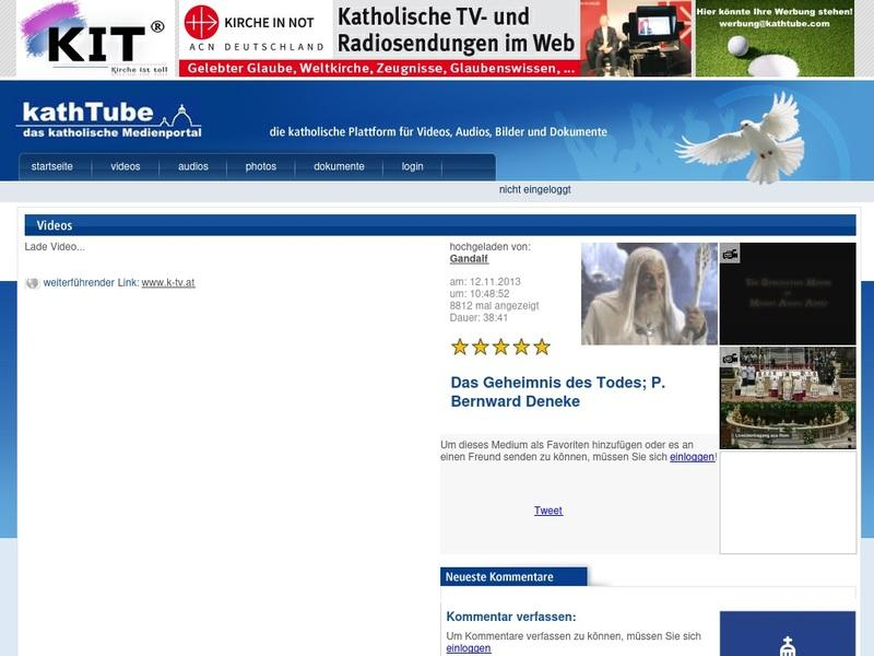 Screenshot von http://media.kathtube.com/player.php?id=33201