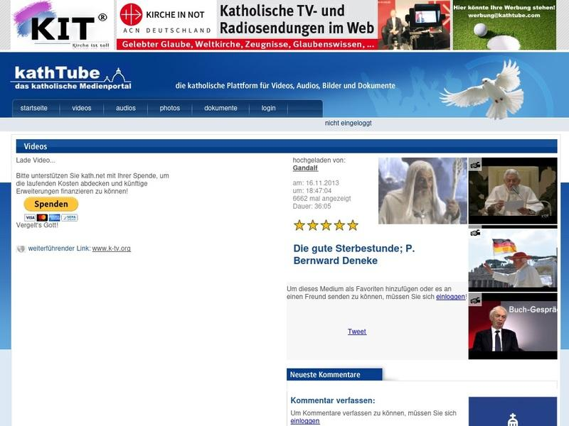 Screenshot von http://www.kathtube.com/player.php?id=33219